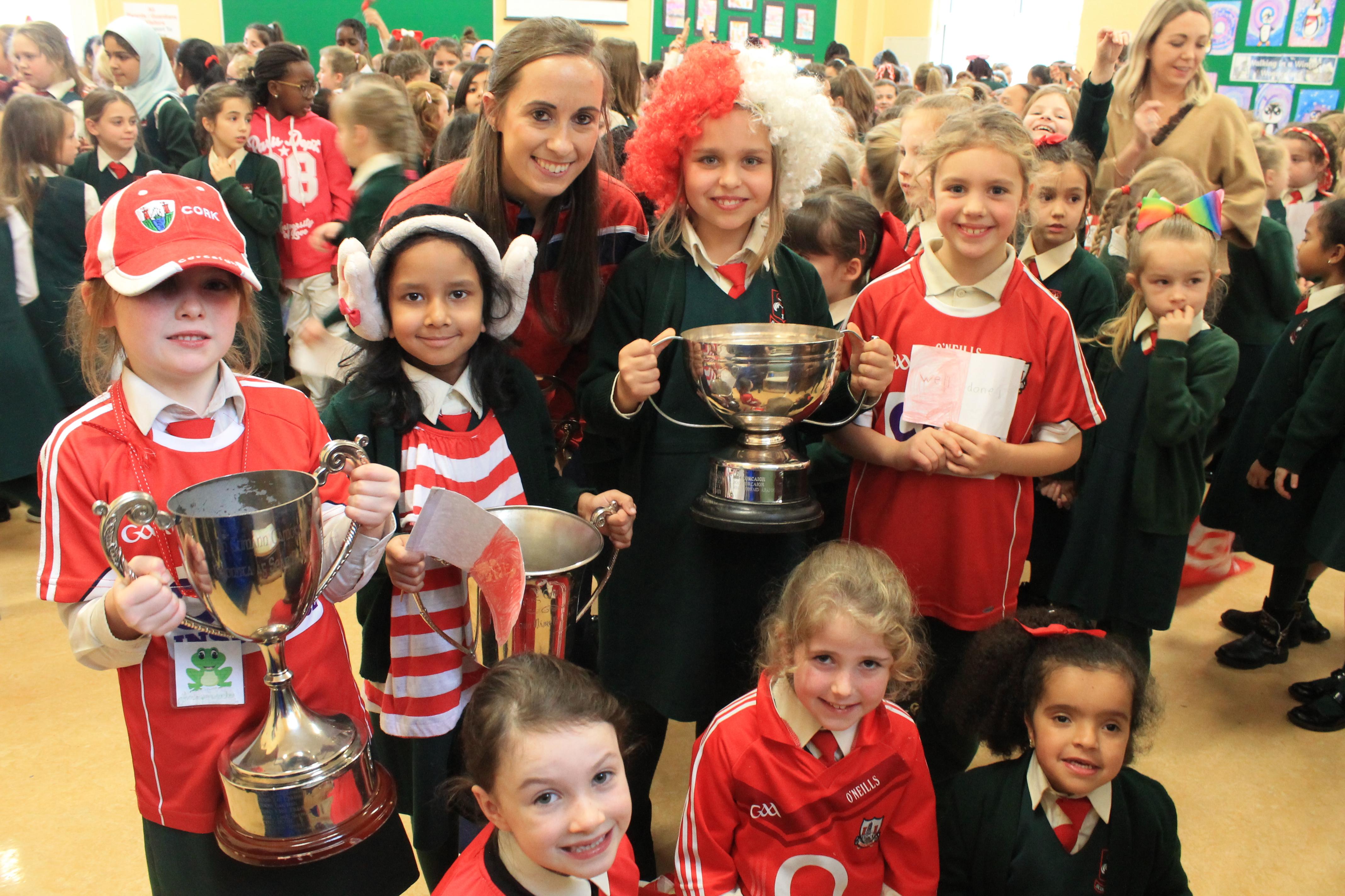 Triple All-Ireland Champions Visit Scoil Mhuire.