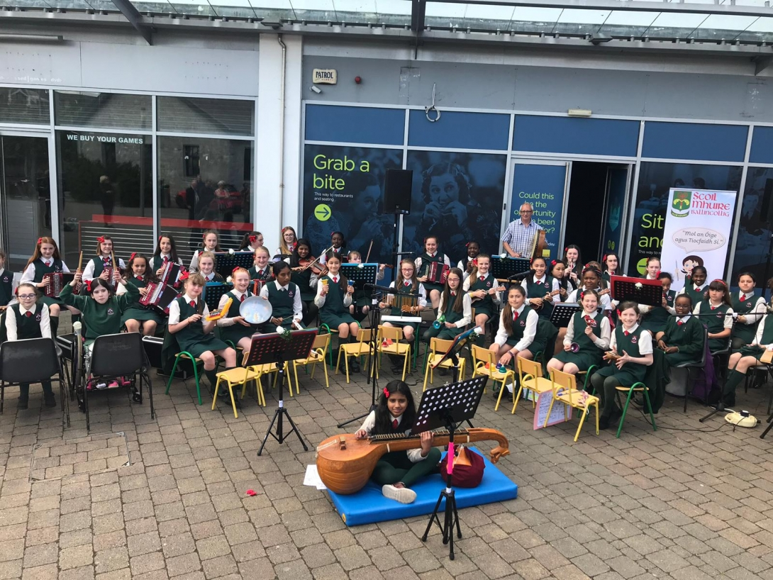 Scoil Mhuire Brings Music to the Streets of Ballincollig!